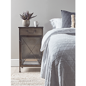 Industrial Style Bedside Cabinet 1221894