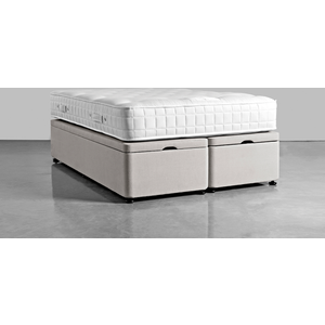 Kingsize Storage Bed Base - Navy Cotton Velvet 1925685