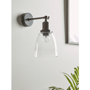 New Burnished Bronze Dome Wall Light 1329005