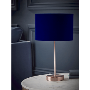 New Copper & Navy Table Lamp 1329116