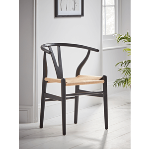 New Elm Bow Back Dining Chair - Black 1228757