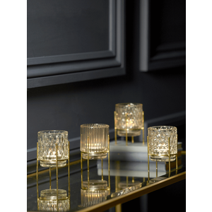 New Four Textured Standing Tealight Holders 1128224