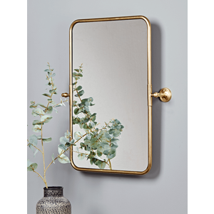 New French Rectangle Wall Mirror - Brass 1427765