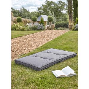 New Indoor Outdoor Floor Cushion - Grey 1525858 Garden