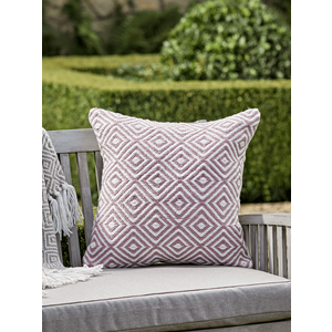 New Indoor Outdoor Squares Cushion - Blush 1828354