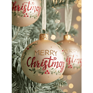 New Six Merry Christmas Baubles 1026636