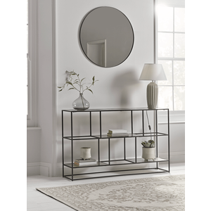 New Textured Topped Metal Sideboard - Burnished Silver 1228762