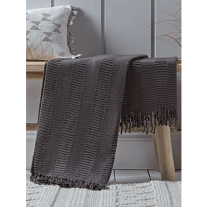 Pleated Throw - Charcoal 1820972