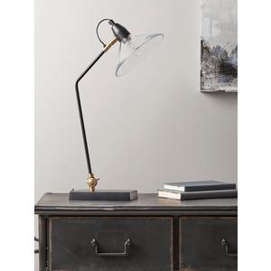 Ribbed Glass Shade Desk Lamp 1321219