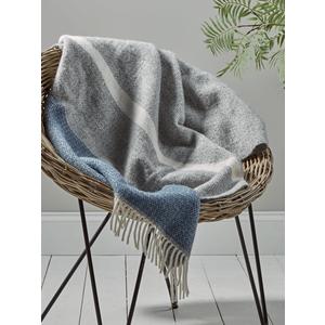 Soft Wool Throw - Blue & Grey 1825415