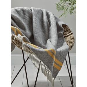 Soft Wool Throw - Mustard French Stripe 1825414