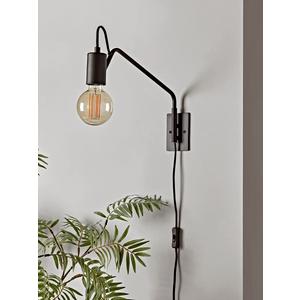 Swing Arm Wall Lamp - Black 1324995 Lighting