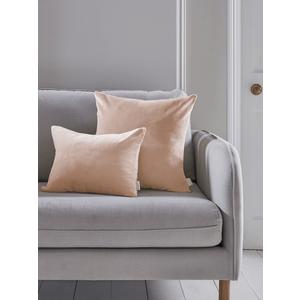 Velvet & Linen Rectangular Cushion - Blush 1821612