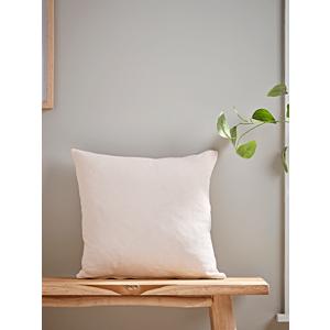 Washed Linen Square Cushion - Soft Blush 1825300