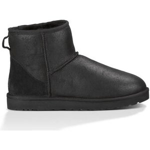 Ugg Men's Classic Mini Bomber Boot In Jacket Black, Size 6, Shearling, Bomber Jacket Black