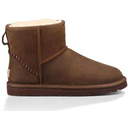 Ugg Men's Classic Mini Deco Boot In Chestnut, Size 13, Leather, Chestnut