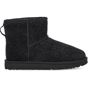 Ugg Women's Classic Mini Milky Way Boot In Black, Size 7, Leather, Black