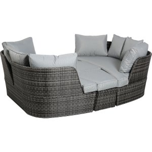 Ascot Garden Day Bed In Grey Weave And Grey Fabric Barker And Stonehouse