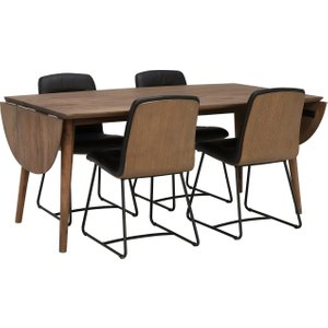 Bora 240cm Dining Table And 4 Harley Dining Chairs Barker And Stonehouse B0radtbl+har