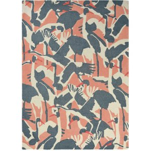 Cranes Wool Rug, Pink Barker And Stonehouse Cranes Pink