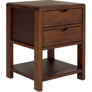 Ercol Bosco 2 Drawer Bedside Cabinet Barker And Stonehouse Bsco1368dark