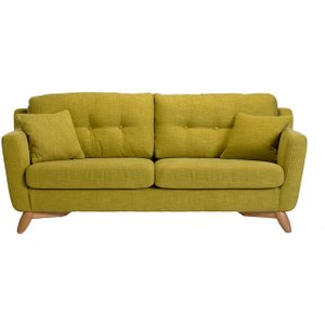 Ercol Cosenza Large Fabric Sofa, Green Barker and Stonehouse COS1330LTRG3