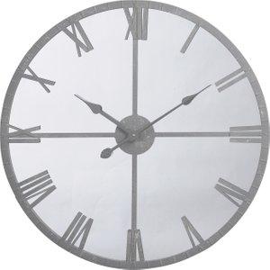 Grey Mirror Wall Clock Barker and Stonehouse GRFR1677ST52