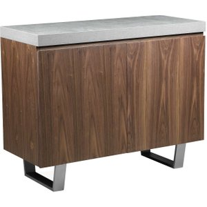 Halmstad 2 Door Sideboard, Concrete And Walnut Barker and Stonehouse 5HLM2DRSC+WA