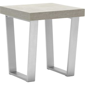 Halmstad End Table, Concrete And Walnut Barker and Stonehouse 5HLMENDTCONC