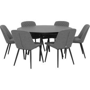 Levens 6 Seat Round Garden Dining Set, Grey Barker and Stonehouse 3LVN6SSTBULK