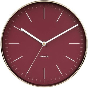 Minimal Wall Clock, Burgundy Barker and Stonehouse MNIA9556ST52