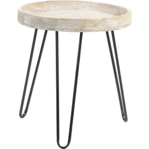 Natural Wood Side Table, Natural Barker And Stonehouse Nwst2682st56