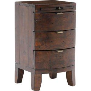 Navajos Reclaimed Wood 3 Drawer Bedside, Chestnut Barker and Stonehouse NJOS0002BULK