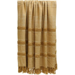 Ochre Woven Throw Barker And Stonehouse Owvt0060st43
