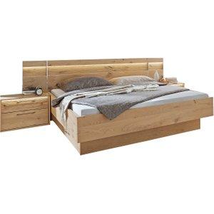 Olvera King Bed Frame With Bedsides, Balken Oak Barker and Stonehouse OLV1150BWOOD