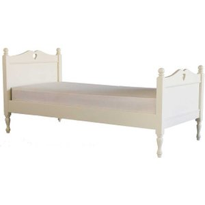 Pippin Single Bed With Carved Heart Barker and Stonehouse PIPIHBEDWHIT