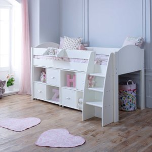 Rondo F Childrens Midsleeper Bed With Storage Barker and Stonehouse NRONFFFFSTOM