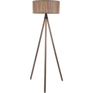 Slatted Tripod Floor Lamp, Antique Wood Barker and Stonehouse ASLA3207ST61