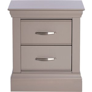 Willersey Small 2 Drawer Bedside Chest, Grey Barker And Stonehouse 9wilt02sgrey