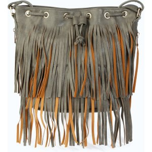 Isawitfirst.com Charcoal Tassel Shoulder Bag - Os / Grey S17w 2200005159 Cal Os Bags, GREY