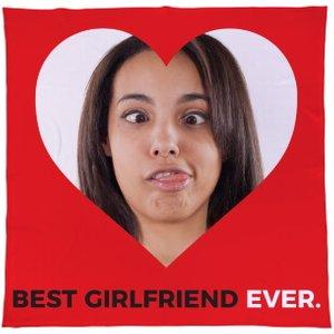 Personalised Best Girlfriend Ever Fleece Throw