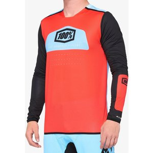 100% R-core X Race Jersey - Fluo Red/black