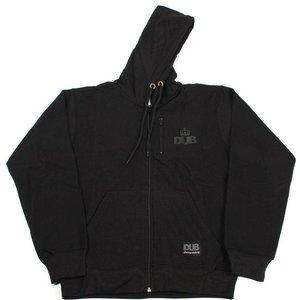 Dub Stash Zip Hooded Sweat - Black