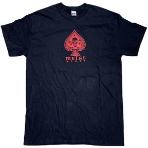 Metal Spade T-shirt - Black With Red