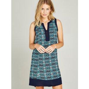 Apricot Aqua Tile Print Tunic Dress  5051839213395size16