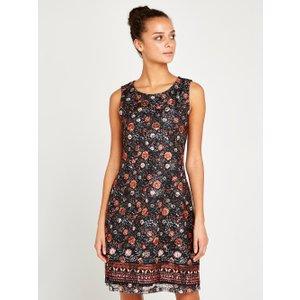 Apricot Black Floral Spring Lace Shift Dress  5051839450141size14