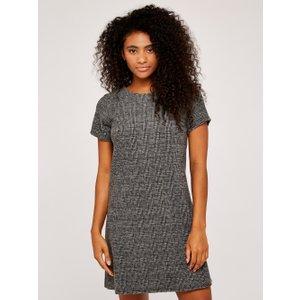 Apricot Black Jacquard Dogtooth Shift Dress  5051839526495size16