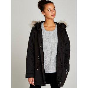 Apricot Black Removable Padding Faux Fur Hood Coat  5051839229006size10
