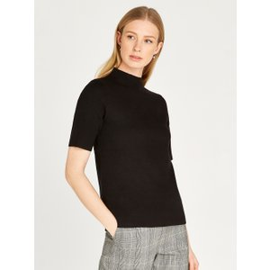 Apricot Black Soft Touch Half Sleeve Jumper  5051839458925size8