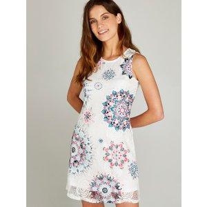 Apricot Blue Mandala Print Lace Shift Dress  5051839214569size16